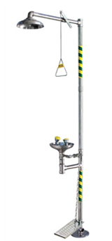 Combination Safety Shower (foot operated)