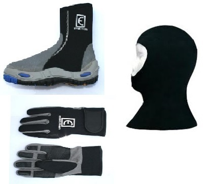 Diving Hood, Diving Shoes, Diving Gloves