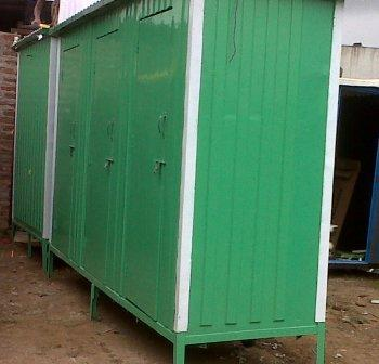 Three in  FRP row Mobile Toilet