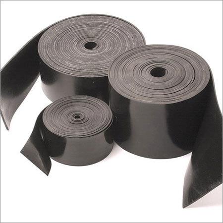 Black Natural Rubber Strips