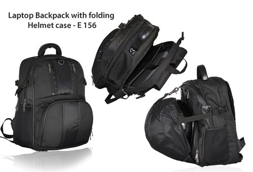 Laptop Backpack with folding Helmet case