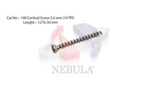CORTICAL  SCREW  HEX ( Self Tapping ) Dia.  3.5 mm  ( 14 TPI )