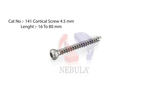 CORTICAL  SCREW  HEX  ( Self Tapping ) Dia.  4.5 mm  ( 14 TPI )
