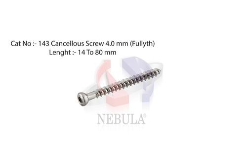 CANCELLOUS SCREW HEX Dia.  4.0 mm ( Fully Thread )