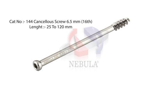 CANCELLOUS SCREW HEX Dia.  6.5 mm ( 16 mm Thread )
