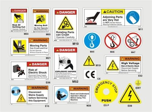 Rotating Cutter Blade Warning Label