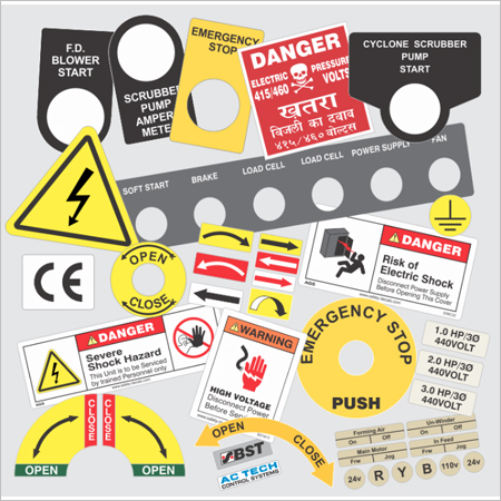 Control Panel Labels