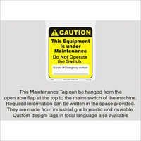 Maintenance Tag