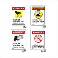 Rotating Saw Blade Hazard Sign