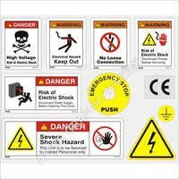Safety Warning Stickers