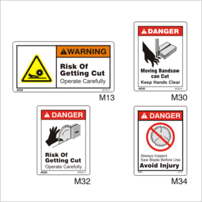Wood Working Safety Warning Signs