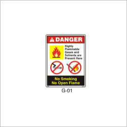 Flammable Material Storage Sign