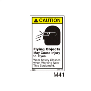 Flying Objects Hazard Sign