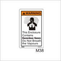 Hazardous Vapors Sign