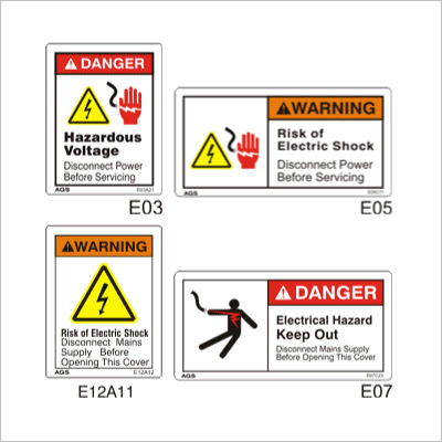 Electric Shock Hazard Sign