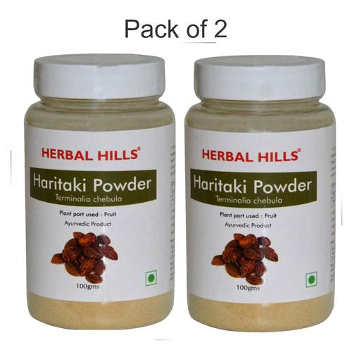 Ayurvedic Haritaki Powder 100gm for Detoxification of Body (Pack of 2)