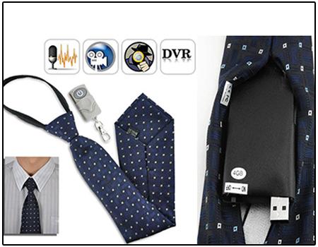 Spy Hidden Neck Tie Camera
