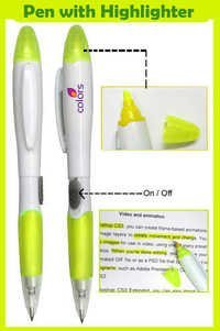 Pen with Highlighter