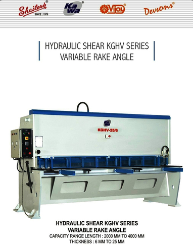 Variable Rake Angle Hydraulic Shearing