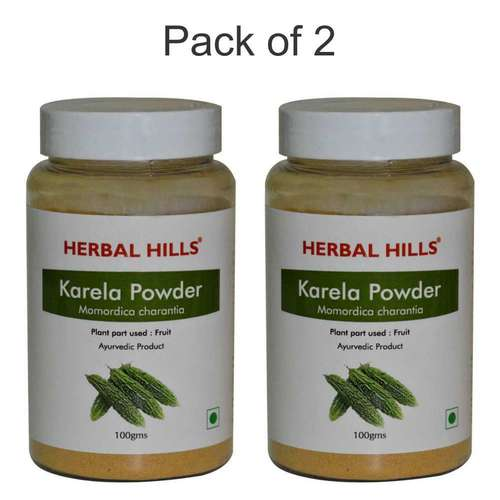 Ayurvedic karela Powder 100gm for Blood sugar control (Pack of 2)