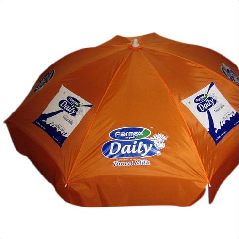 Corporate advertisement umbrella of milk