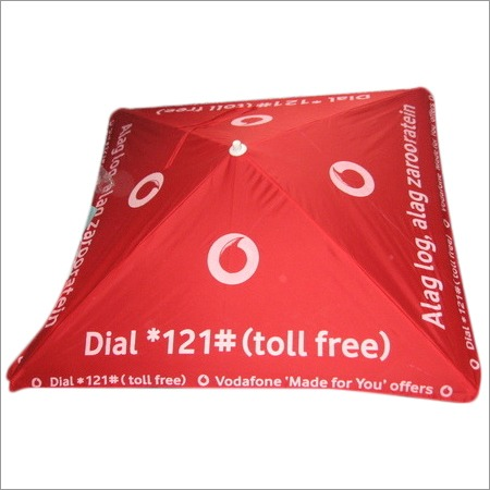 Corporate advertisement umbrella of  vodafone sq