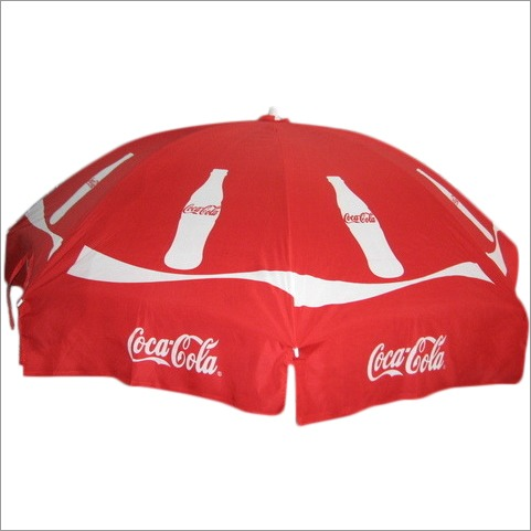 Corporate advertisement   umbrella of Coca cola