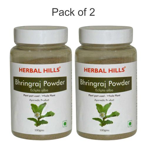 Ayurvedic Bhringraj Powder 100gm for Healthy Hair (Pack of 2)