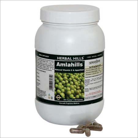 Amla Capsule for Healthy Hair & Digestion - Amlahills 700 Capsule
