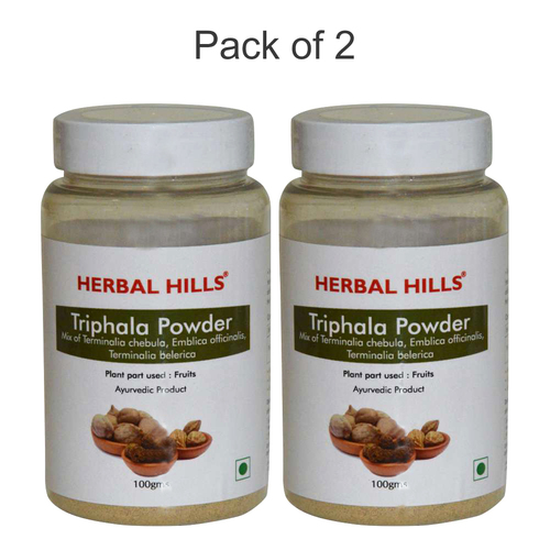 Ayurvedic Triphala Powder 100gm for Healthy Digestion (Pack of 2)