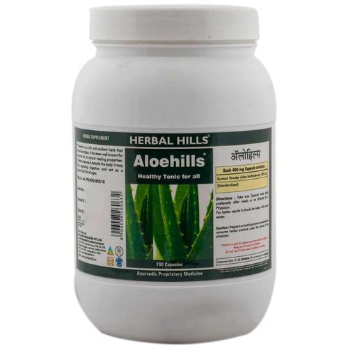 Aloevera capsule for healthy skin & Digestion - Aloehills 700 capsule