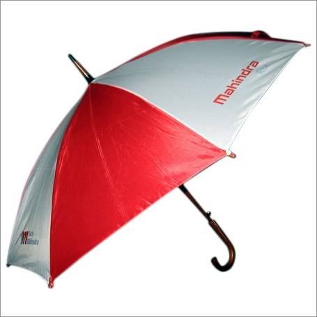 Corporate advertisement umbrella of Mahindra