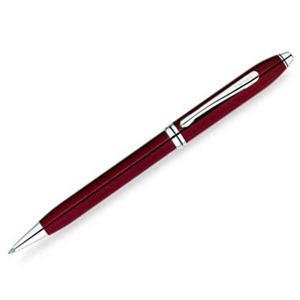 Townsend Ruby Colored Lacquer Ball Pen