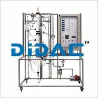 Manual Batch Distillation Pilot Plant with Data