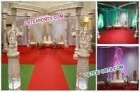 Wedding Buterfly Crystal Mandap Set