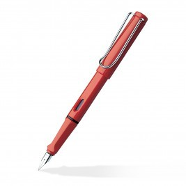 RED BROAD FOUNTAIN PEN LAMY SAFARI RED BROAD FOUN