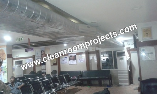 Spiral Ducting Installation in Hospital