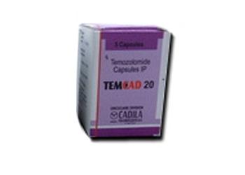 Temozolomide 20 mg Capsules Cadila