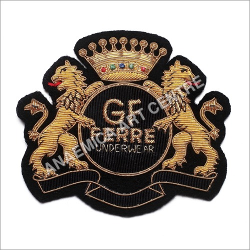 Hand Embroidered Bullion Wire Badges