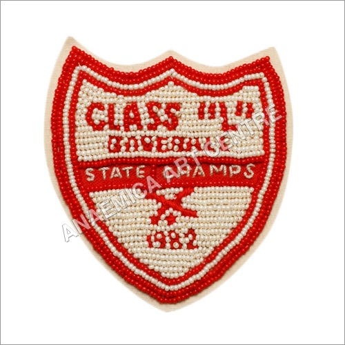 State champs beaded badge