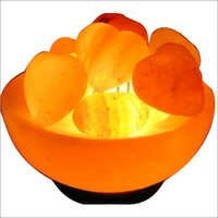 Fire Bowl Salt Lamp with Hearts