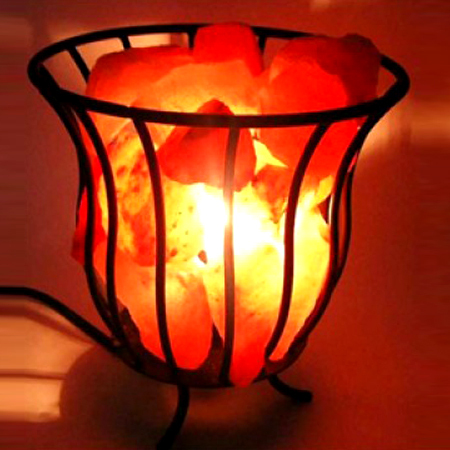 Metal Basket Salt Lamp