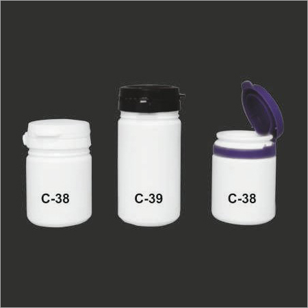 Flip top Cap Tablet Containers