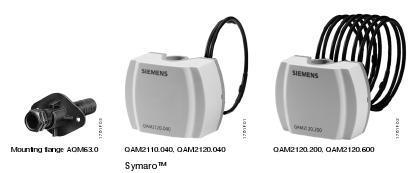 Siemens Duct Mounted Temperature Sensor