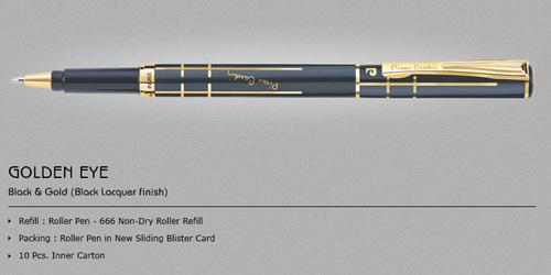 "Pierre Cardin ""Golden Eye Black & Gold"" Roller Pen"