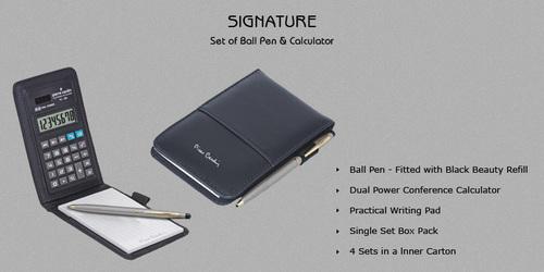 Pierre Cardin Signature Pad,Calculator and Pen Set