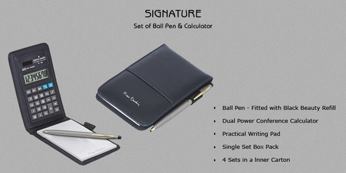 Pierre Cardin Signature Pad,Calculator and Pen Set