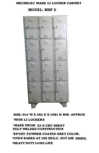 Steel Locker Cabinet 12 Doors