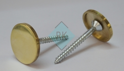 Brass Fancy Mirror Cap with Screw