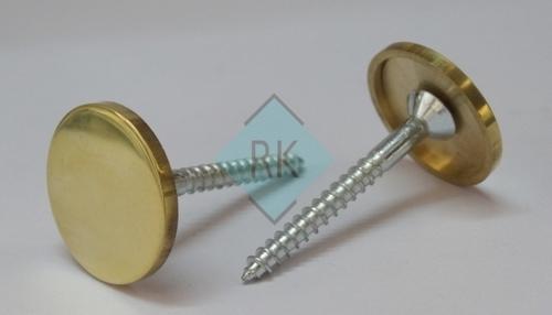 Brass Fancy Mirror Cap with Screw